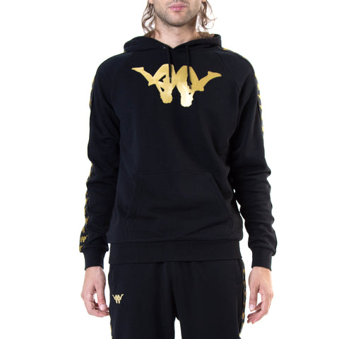 Kappa Authentic Baccello ComplexCon Black Gold Hoodie