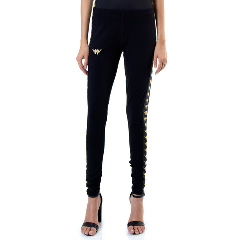 Kappa Authentic Botera ComplexCon Black Gold Leggings