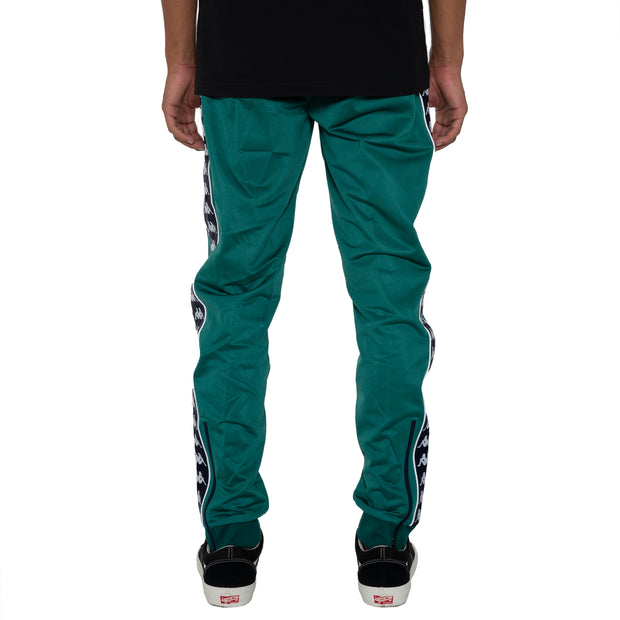 Kappa 222 Banda Rastoria Slim Green Blue Pants