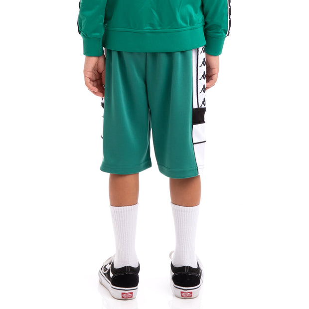 Kappa Kids 222 Banda Arawa Green Black White Shorts