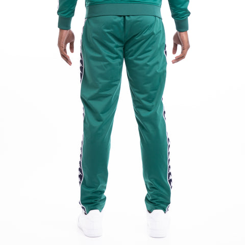Kappa 222 Banda Astoria Slim Green Blue Mar White Track Pants