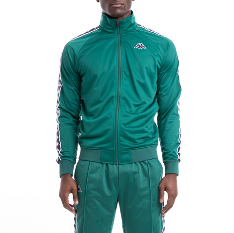 Kappa 222 Banda Anniston Slim Green Blue Track Jacket