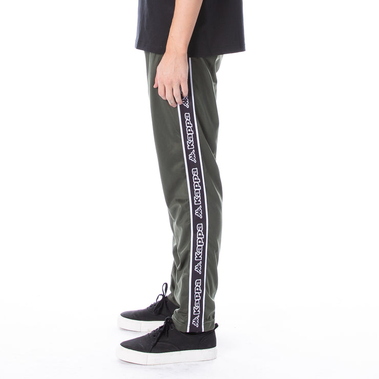 Logo Tape Aplec Trackpants - Greenthyme Black Wht