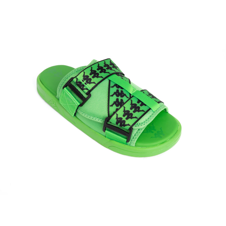 222 Banda Mitel 1 Green Fluo Black Sandals