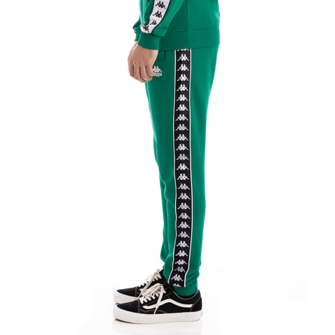Kappa 222 Banda Alanz Alternating Banda Green Black White Sweatpants