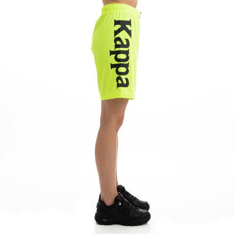 Kappa Kalcio Boltecs Yellow Fluo Black Shorts