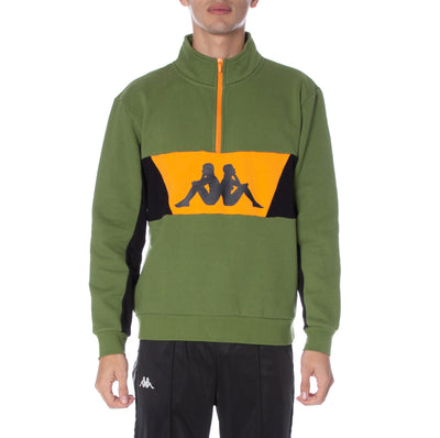 Authentic 90 Barte Half Zip Pullover - Green Orange Black