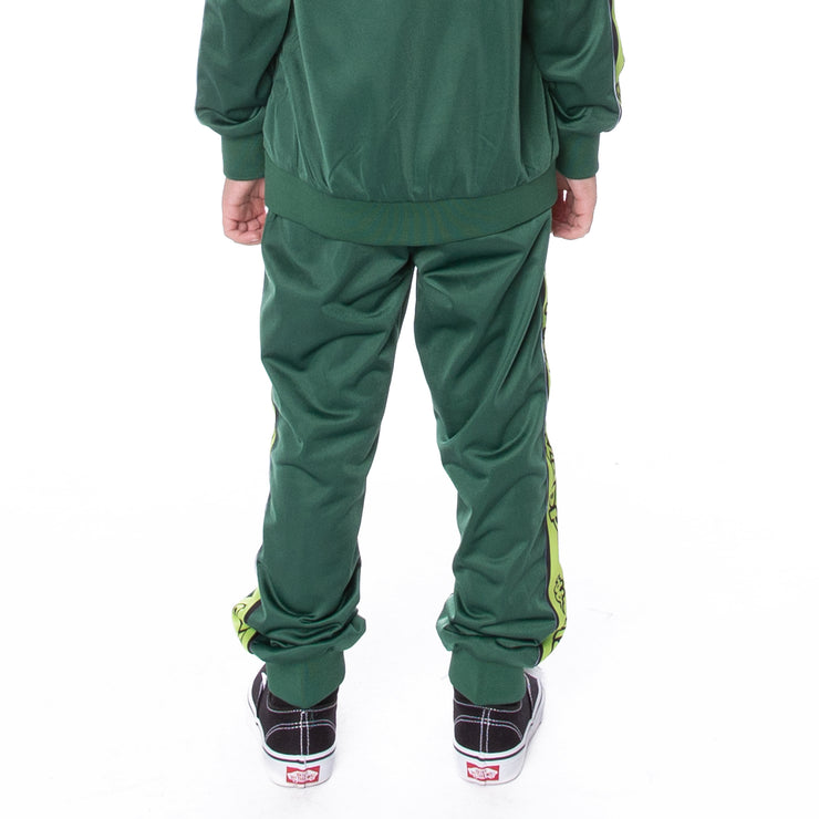 Kids Logo Tape Alic Trackpants Green Lime Black