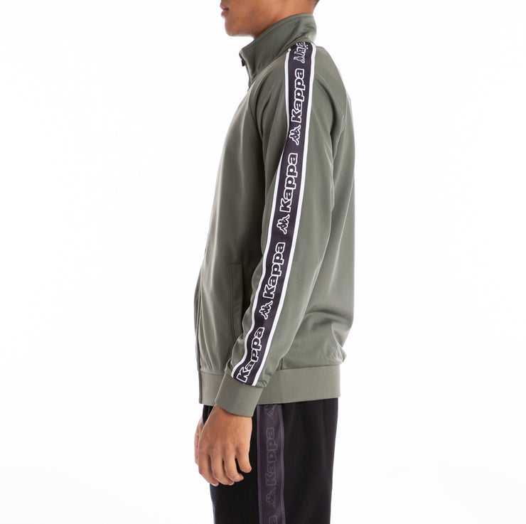 Logo Tape Artem Track Jacket - Greenthyme Black Wht