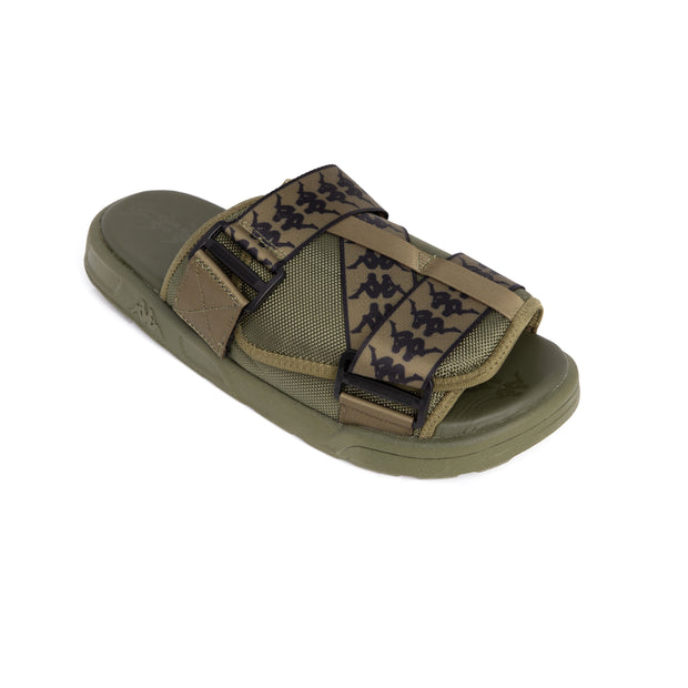 222 Banda Mitel 1 Green Loden Black Sandals