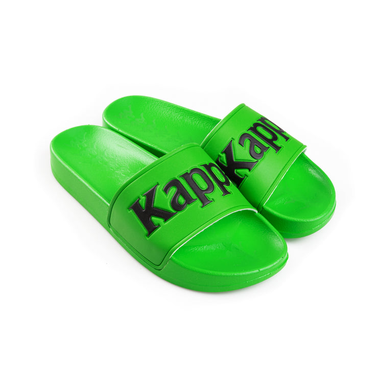 Kappa 222 Banda Adam 9 Green Fluo Black Slides