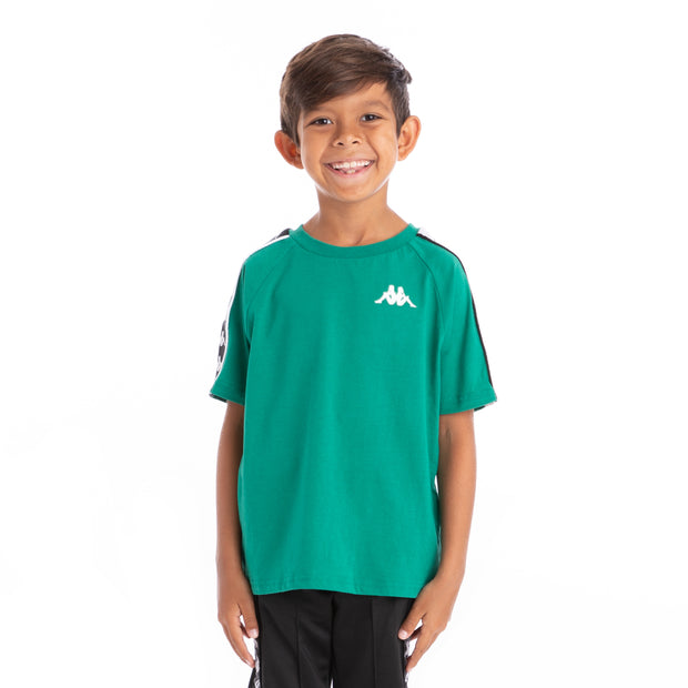 Kids 222 Banda Coen Alternating Banda Green Black White T-Shirt