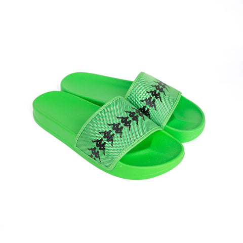 222 Banda Adam 12 Green Fluo Black Slides