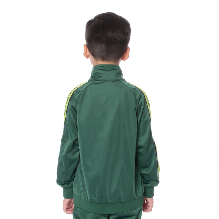 Kids Logo Tape Artem Track Jacket Green Lime Black