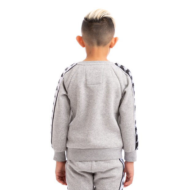 Kappa Kids 222 Banda Arbir Alternating Banda Grey Black White Sweatshirt