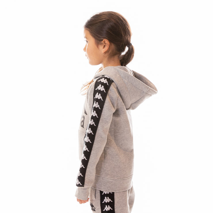 Kids 222 Banda Hurtado Hoodie - Grey Md Mel Black White