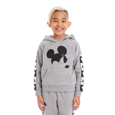 Kappa Kids Authentic Abel Disney Grey Md Mel Black Hoodie