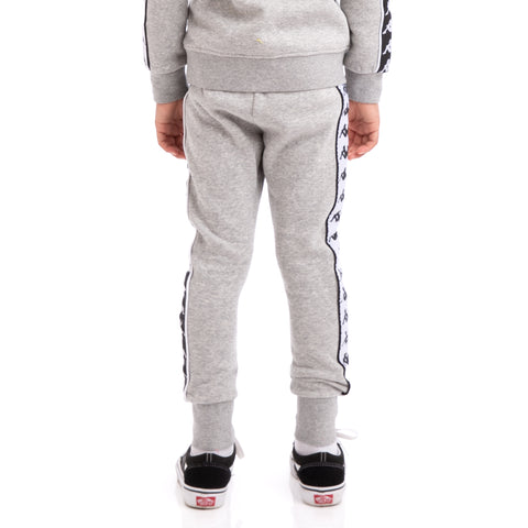 K-Way Kids 222 Banda Alan Alternating Banda Grey Black White Sweatpants