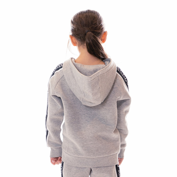 Kids Logo Tape Apet Hoodie - Grey Md Melange Black White