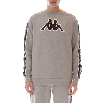 Logo Tape Ateri Sweatshirt - Grey Black White