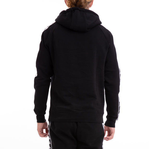 Kappa 222 Banda Hurtado Alternating Banda Black White Hoodie