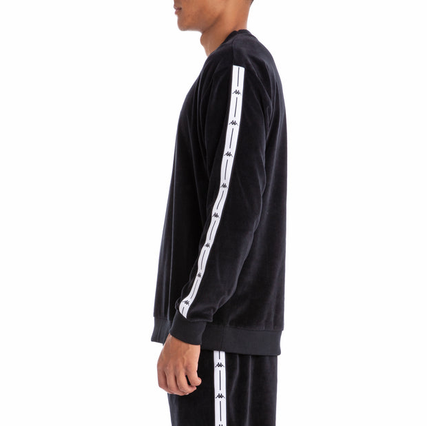 Authentic Jpn Birwin Black White Velour Pullover