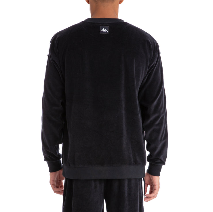Authentic Jpn Birwin Black White Velour Pullover Black White