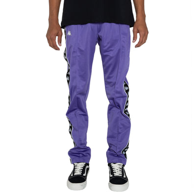 Kappa 222 Banda Astoria Slim Violet Black White Track Pants