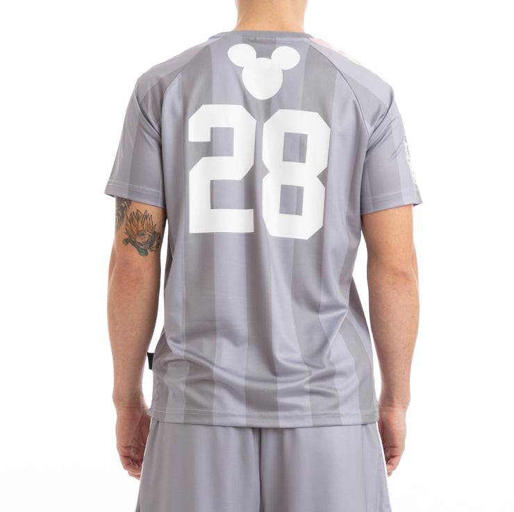 Kappa Mens Authentic Babol Disney Grey White Jersey