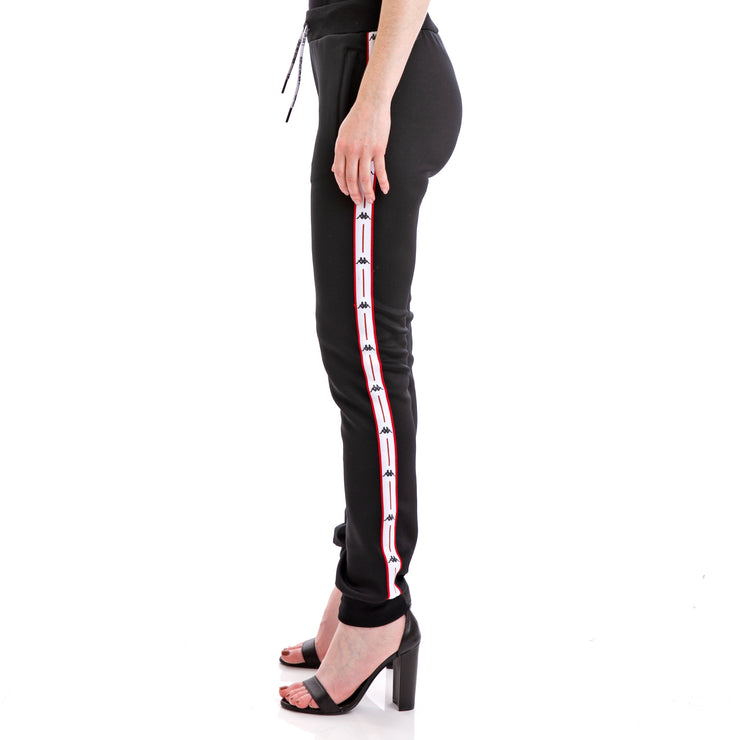 Kappa Authentic Jpn Baey Black White Red Trousers