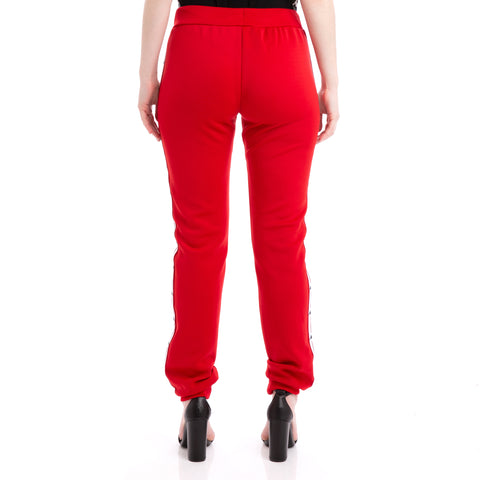 Kappa Authentic Jpn Baey Red White Black Trousers