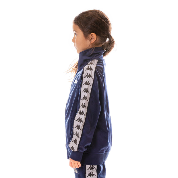 Kids 222 Banda Joseph Reflective Track Jacket - Blue Grey Reflective