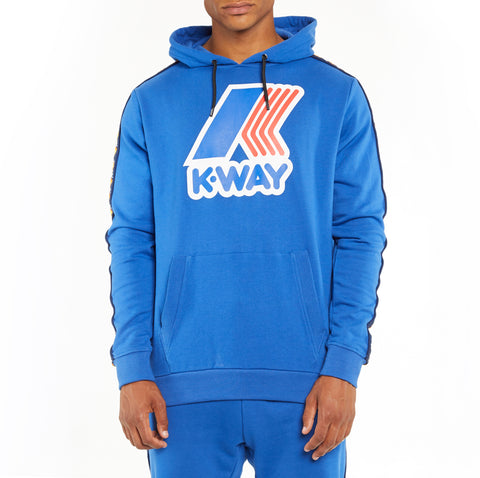Men's K-Way X Kappa Le Vrai 3.0 Bob Banda Hoodie Blue Royal
