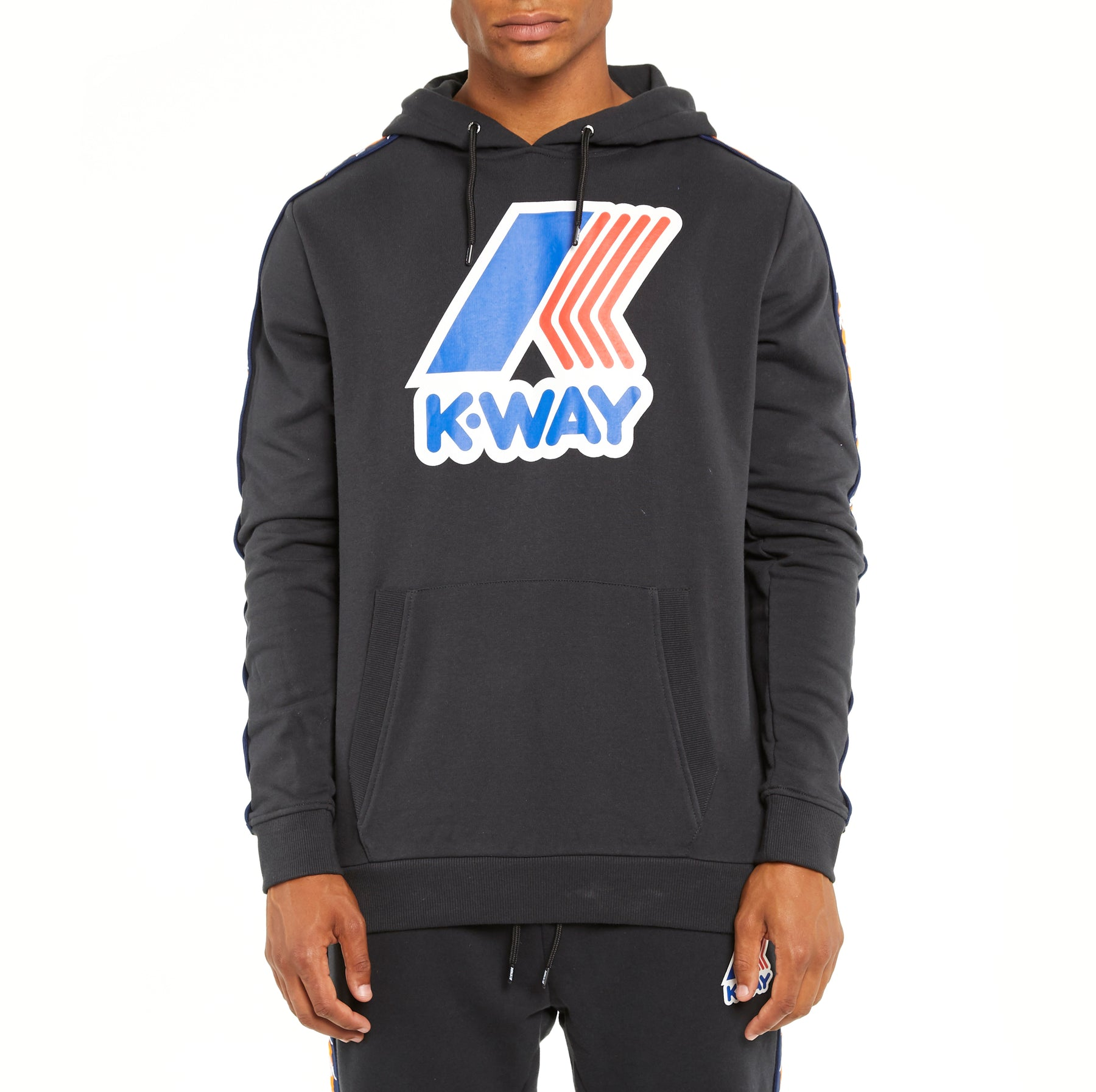 2be36a7ae5 Men's K-Way X Kappa Le Vrai 3.0 Bob Banda Hoodie Black – Kappa USA