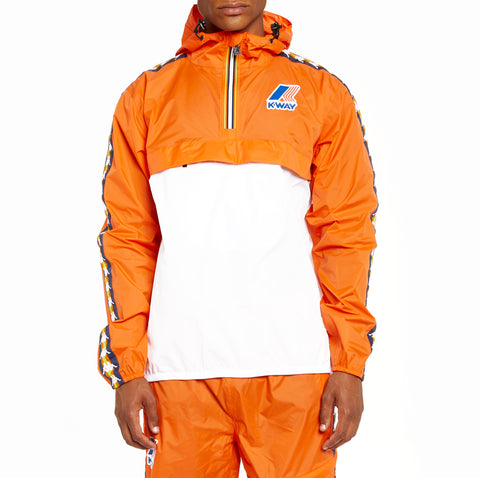 Men's K-Way X Kappa Le Vrai 3.0 Leon Banda Jacket Orange Flame