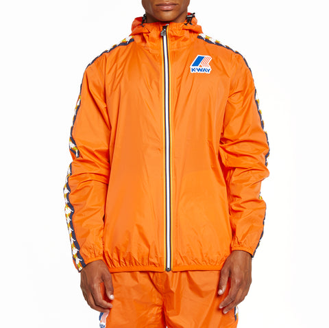 Men's K-Way X Kappa Le Vrai 3.0 Claude Banda Jacket Orange Flame