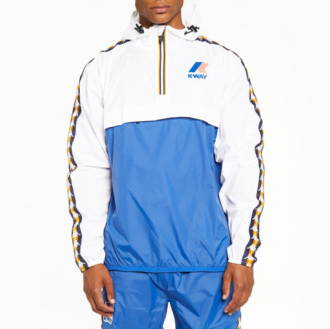 Men's K-Way X Kappa Le Vrai 3.0 Leon Banda Jacket Blue Royal White