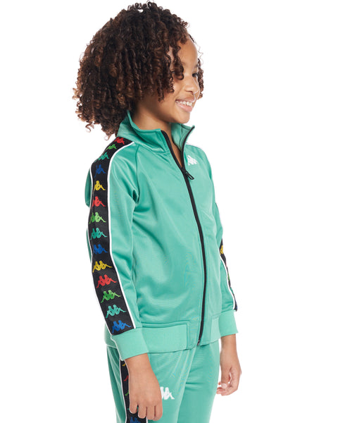 Kids Authentic 222 Banda Anniston Slim Jacket Green Cacatua White