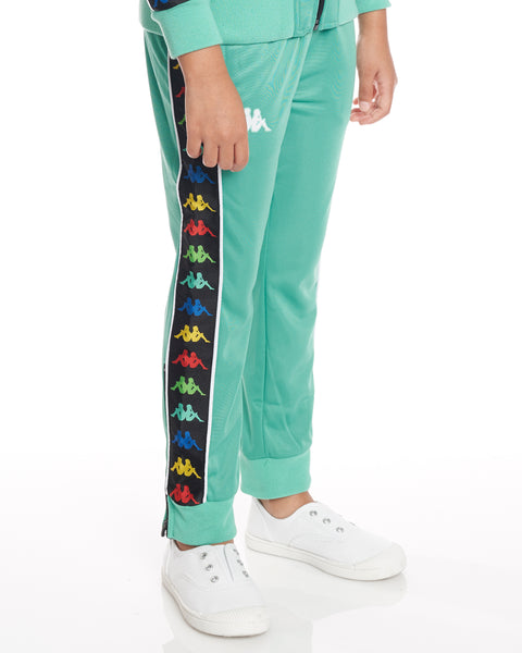 Kids Authentic 222 Banda Rastoria Slim Pants Green Cacatua White