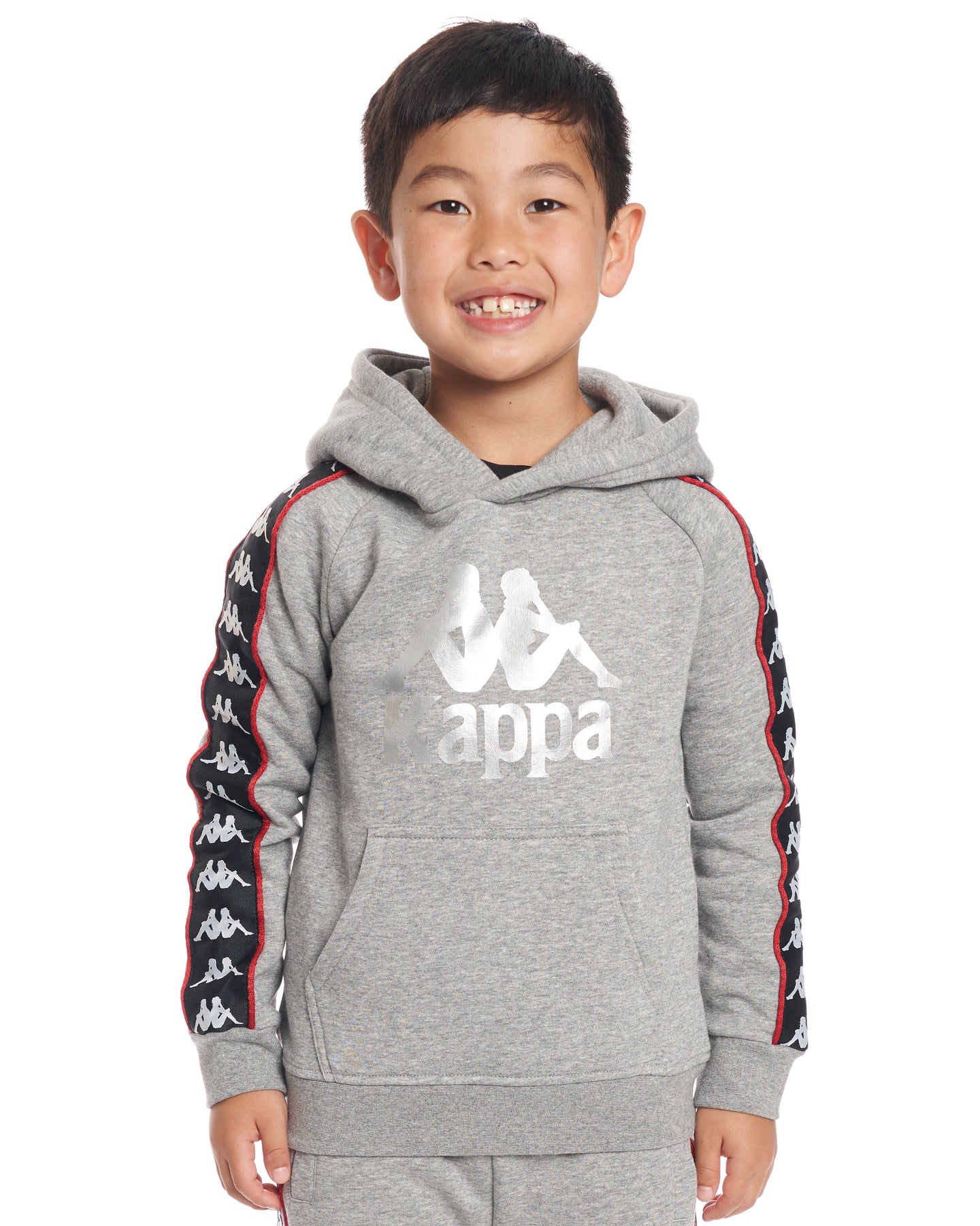 45151544df Kids Authentic 222 Banda Hurtado Sweatshirt GreyMdMel Black Red ...