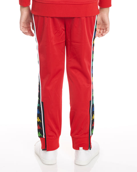 Kids Authentic 222 Banda Rastoria Slim Pants Red White