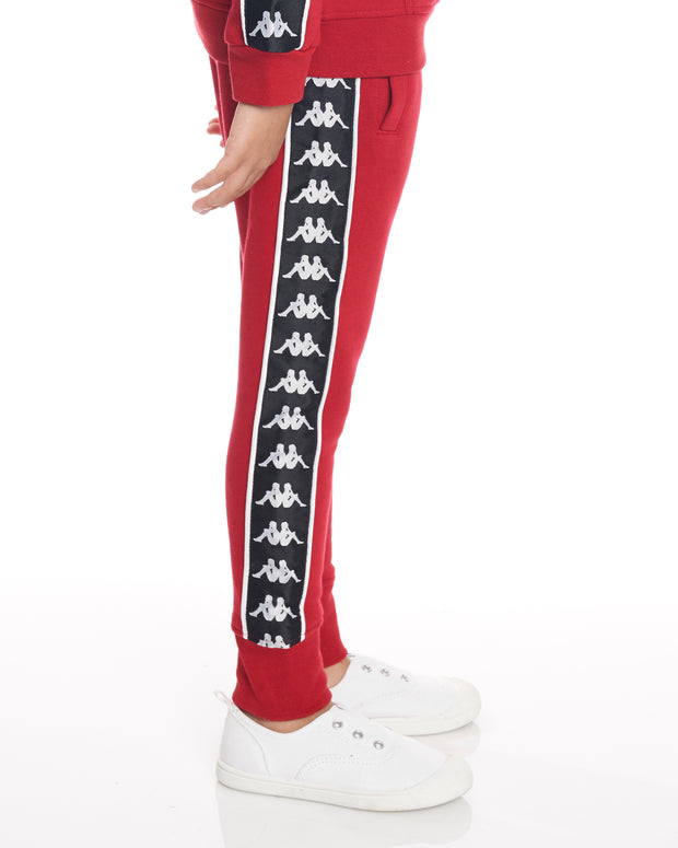 Kids Authentic 222 Banda Alan Pants Red Dk Black White
