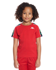 Kids Authentic 222 Banda Coen Slim T-Shirt Red White