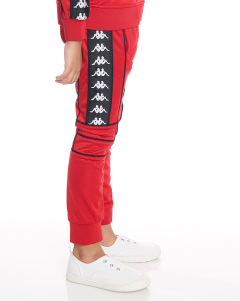 Kids Authentic 222 Banda Mems Slim Pants Dk Red Black