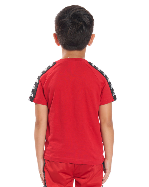 Kids Authentic 222 Banda Coen Slim T-Shirt Dk Red Black