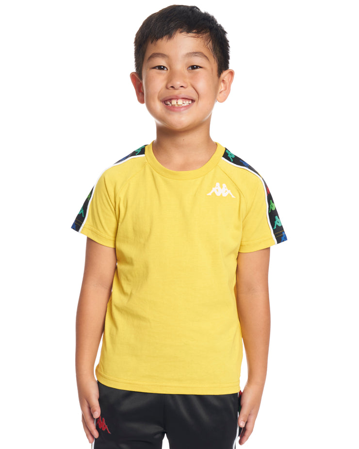 7426b435bb Kids Authentic 222 Banda Coen Slim T-Shirt Yellow Lemon White ...