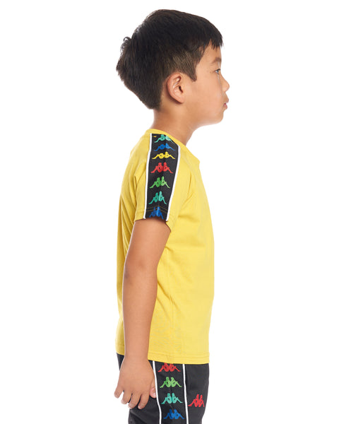 Kids Authentic 222 Banda Coen Slim T-Shirt Yellow Lemon White