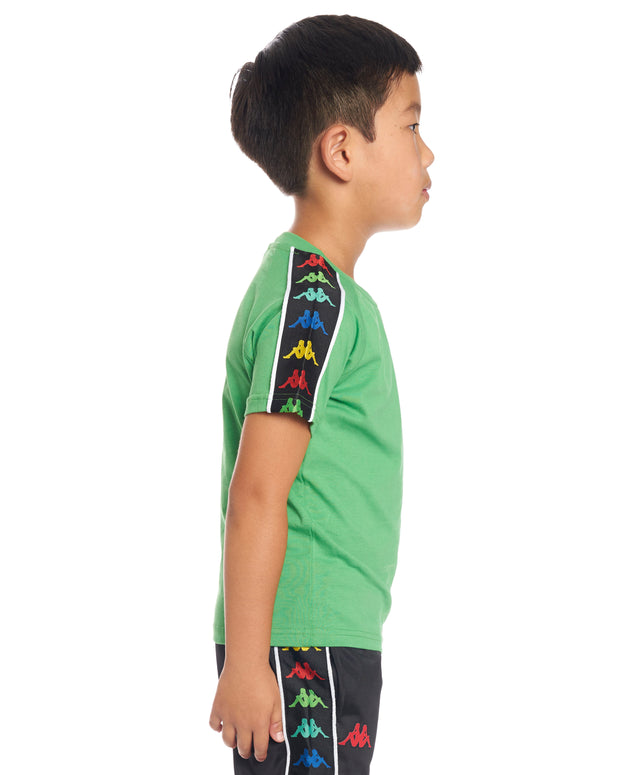 Kids Authentic 222 Banda Coen Slim T-Shirt Green White