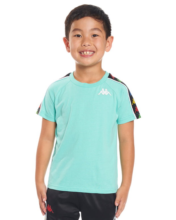 Kids Authentic 222 Banda Coen Slim T-Shirt Green Cacatua White