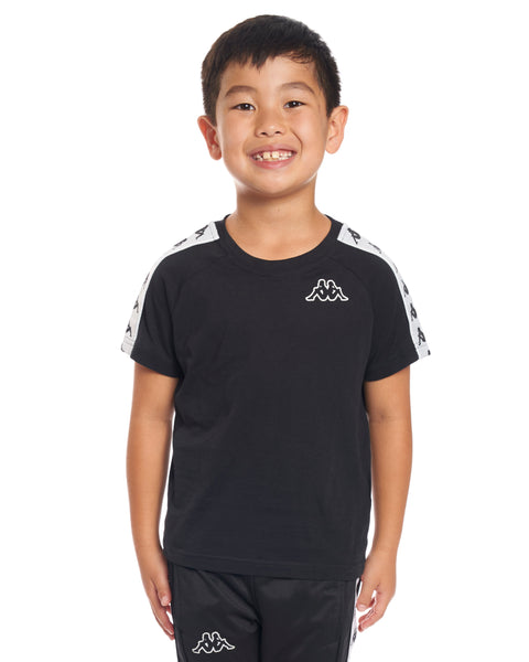 Kids Authentic 222 Banda Coen Slim T-Shirt Black White